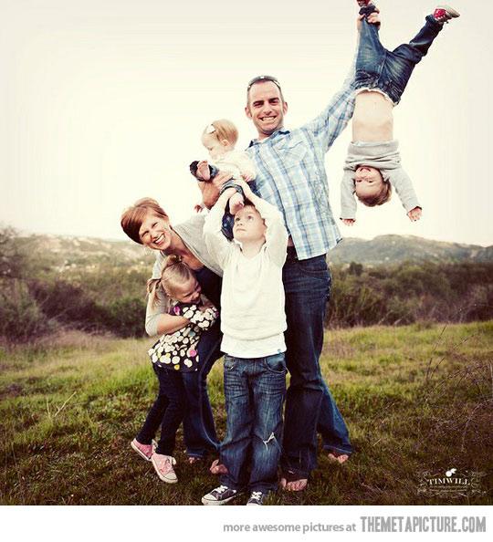 családi kép