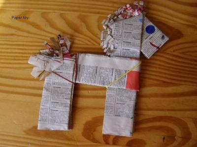 újságpapír játék