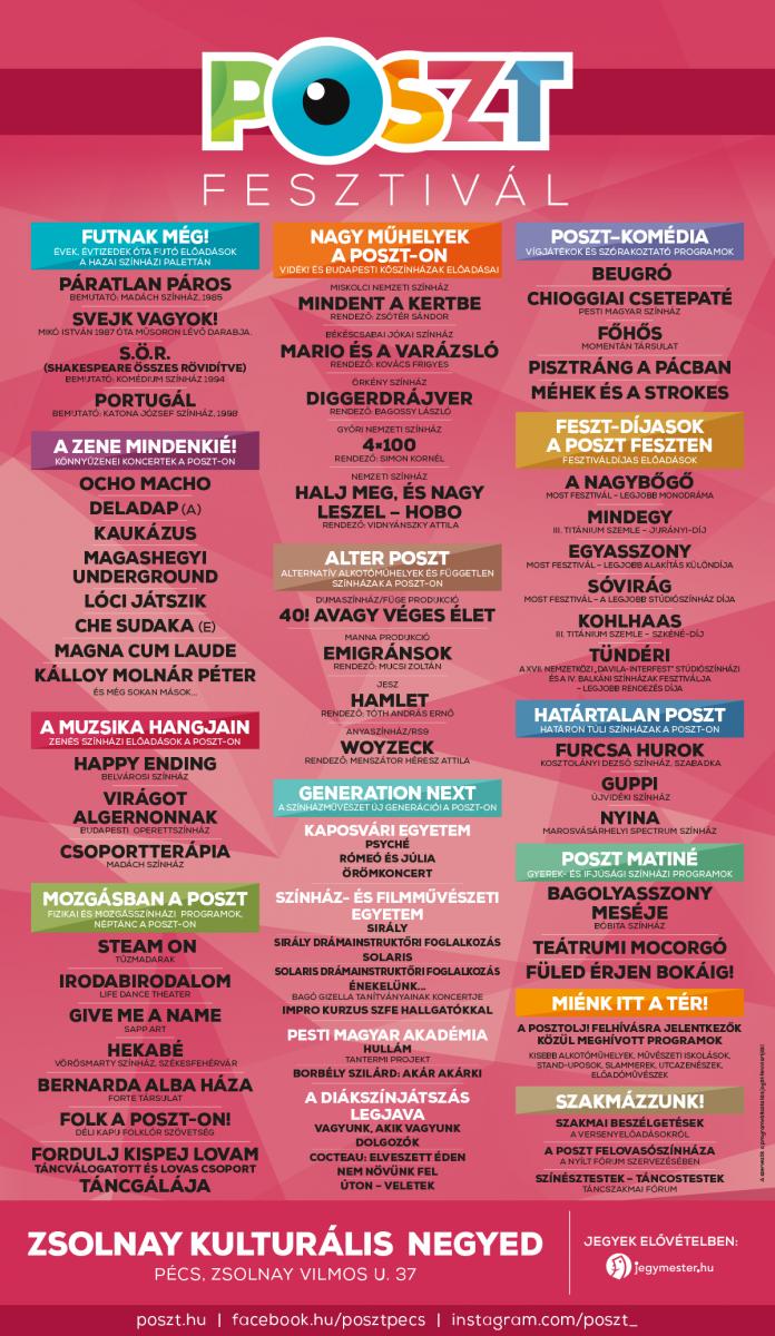 A POSZT Fesztivál részletes programjai