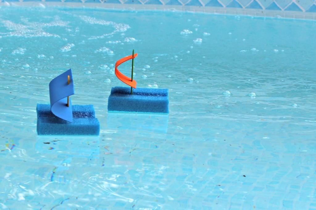 játékhajó szivacsból
