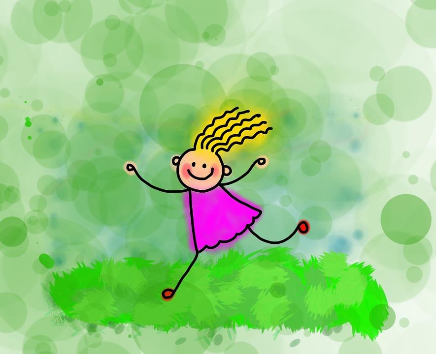 réten szaladó kislány rajz