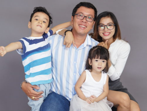 ázsiai család
