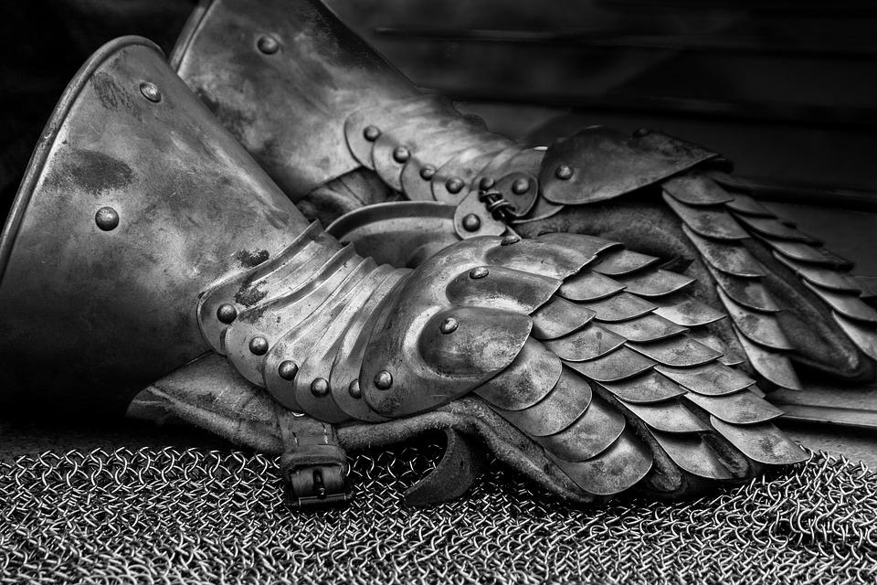 középkori vas kesztyű