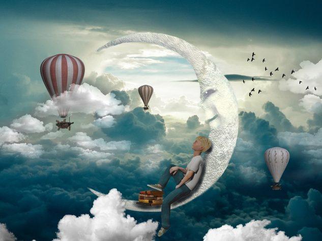 fantáziálás a holdon feküdve