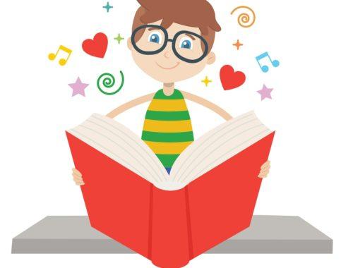 rajz egy olvasó gyerekről