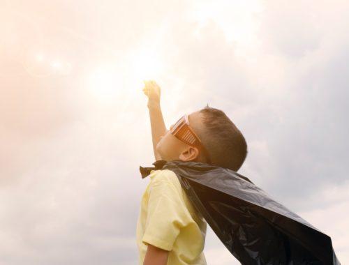 szuperhős gyerek