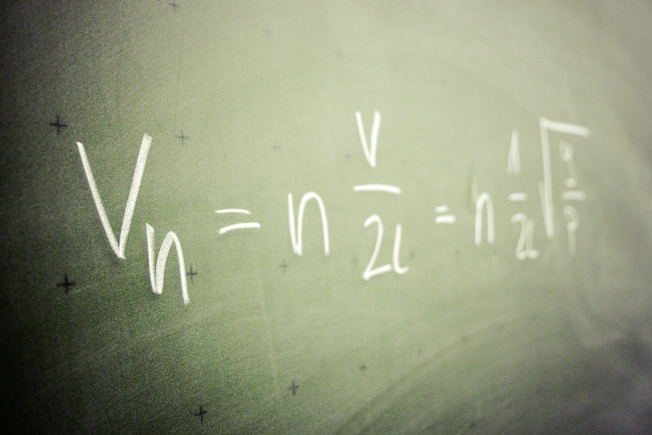 matekképlet a táblán