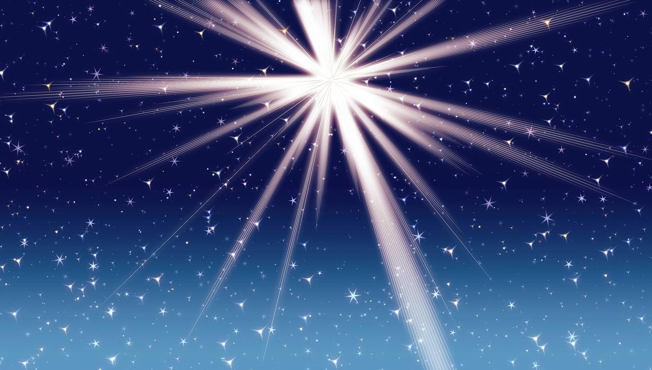 fényes csillag a csillagok között