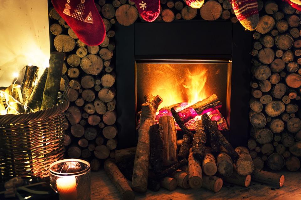 kandalló karácsony előtt