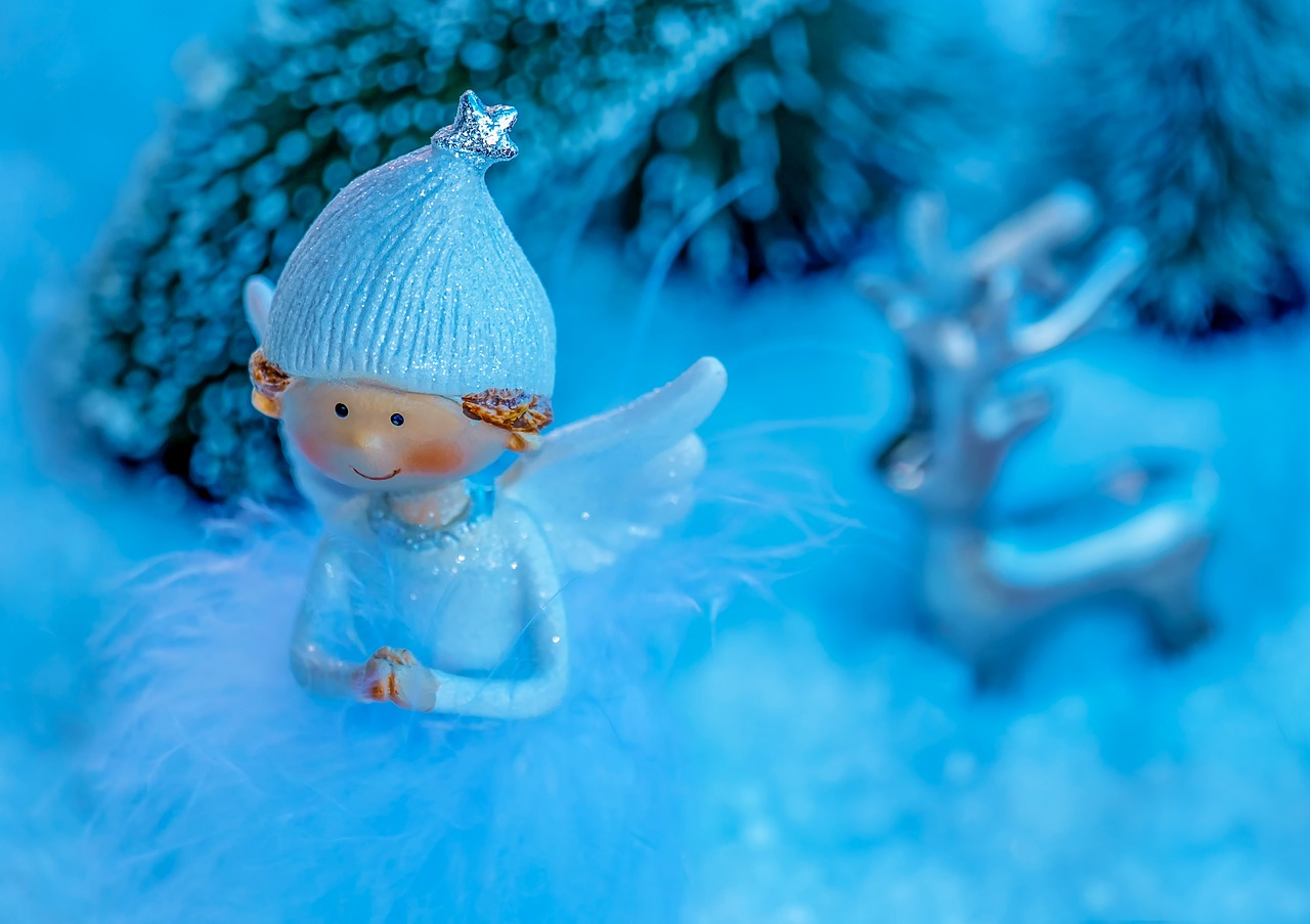 téli díszítés angyalka