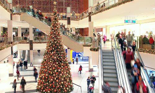 karácsonyfa plázában