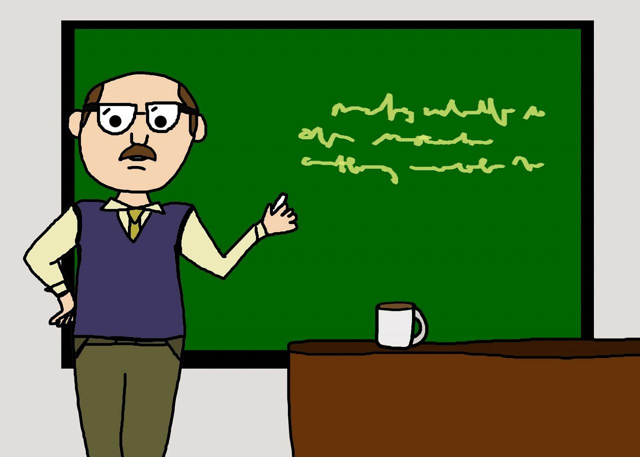 tanár úr tanít az órán