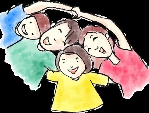 rajz egy vidám családról