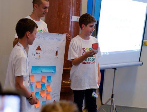 diákok tanórán prezentálnak