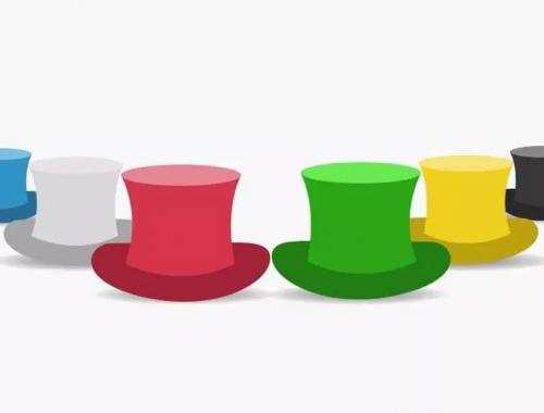rajz színes kalapokról