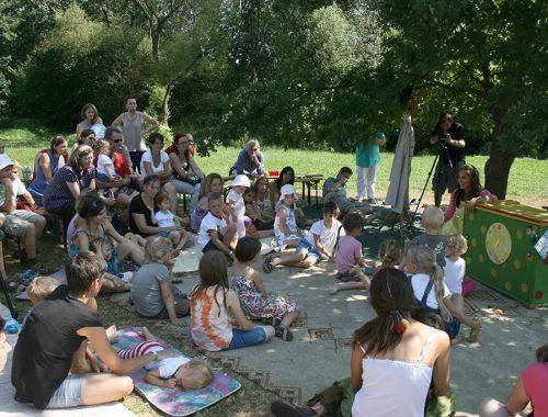 gyerekek a táborban