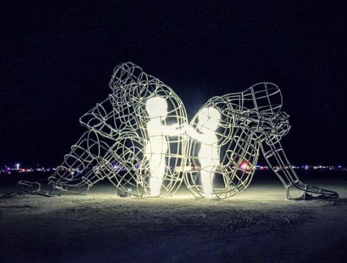 világító szobrok