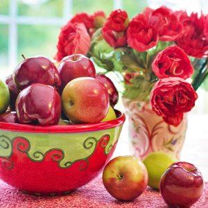 Őszi pohárkrém fahéjjal és almával