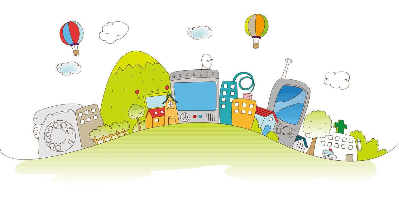 rajz házakról és digitális eszközökről