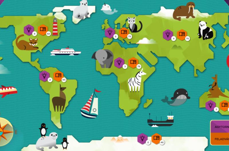 játékos feladatok a világtérképen