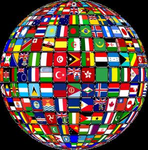 földgömb a nemzetekkel