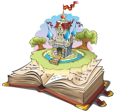 mesekönyv egy kastéllyal