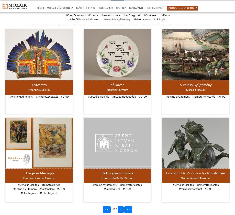 virtuális múzeumtúra weboldal