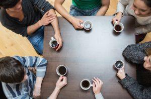 közös családi teázás