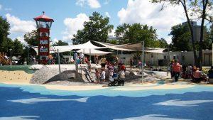 játszótér - Kispesti vizes játszótér