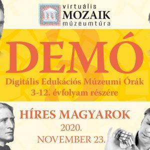 DEMÓ 3 – Híres magyarok - Virtuális múzeumpedagógiai játékok a 3-12. évfolyam számára