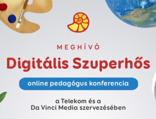 Digitális Szuperhős online pedagógus konferencia